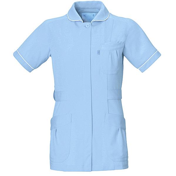 ミズノ ユナイト ジャケット(女性用) サックス M MZ0009 医療白衣 ナースジャケット 1枚 (取寄品)