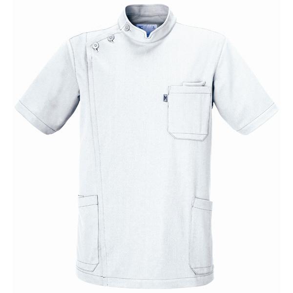 ミズノ ユナイト ケーシージャケット(男性用) ホワイト S MZ0011 医療白衣 1枚 (取寄品)