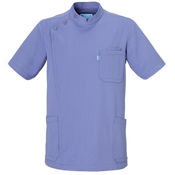 ミズノ ユナイト ケーシージャケット(男性用) ブルー LL MZ0011 医療白衣 1枚 (取寄品)