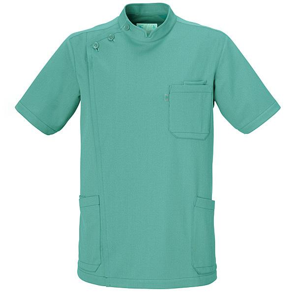 ミズノ ユナイト ケーシージャケット(男性用) グリーン 5L MZ0011 医療白衣 1枚 (取寄品)