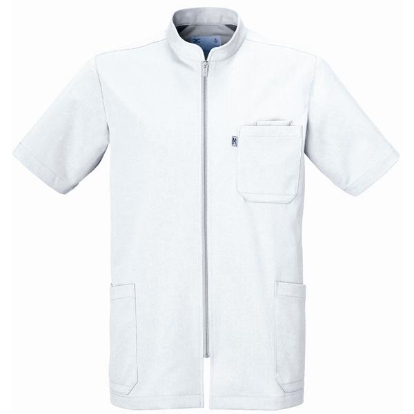 ミズノ ユナイト ケーシージャケット(男性用) ホワイト M MZ0012 医療白衣 1枚 (取寄品)
