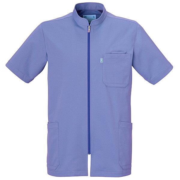 ミズノ ユナイト ケーシージャケット(男性用) ブルー L MZ0012 医療白衣 1枚 (取寄品)