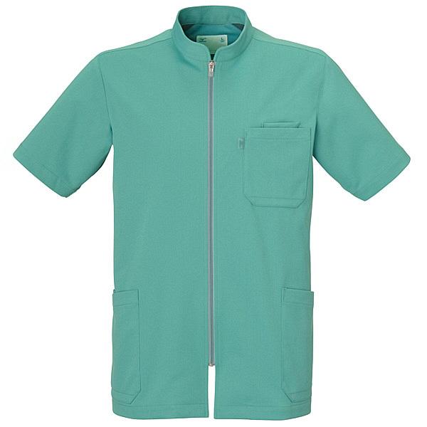 ミズノ ユナイト ケーシージャケット(男性用) グリーン M MZ0012 医療白衣 1枚 (取寄品)
