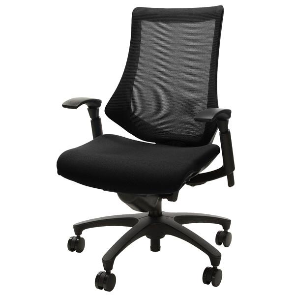 人気のイトーキ製高機能チェア。腰をホールドしながら肩や腕の動きを自由にしたフィット&フリー構造。カラー: ブラック