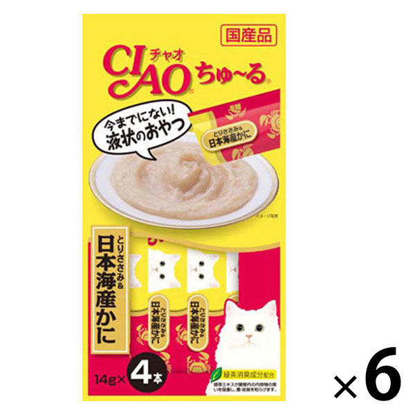 チャオちゅーる 鶏ささみ&日本海蟹24本