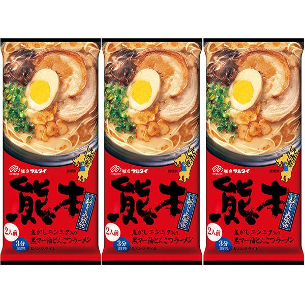 熊本黒マー油とんこつラーメン186g
