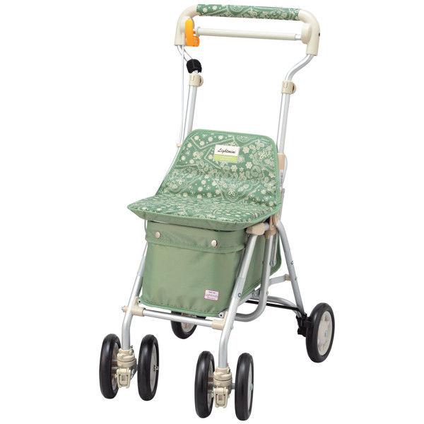 シルバーカー ライトミニNW ペイズリーL グリーン 410132 象印ベビー (取寄品)