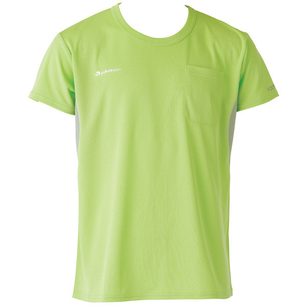 フットマーク×ファイテン 介護ウェア Tシャツ グリーン M (取寄品)