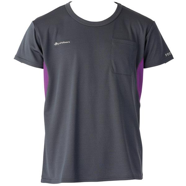 フットマーク×ファイテン 介護ウェア Tシャツ ダークグレー LL (取寄品)