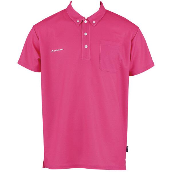 フットマーク×ファイテン 介護ウェア ボタンダウンシャツ ピンク LL (取寄品)