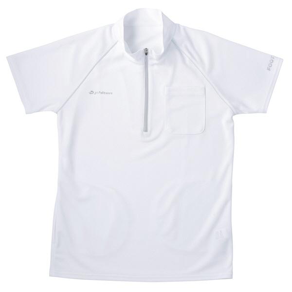 フットマーク 介護ウェア ジップアップシャツ ホワイト M (取寄品)