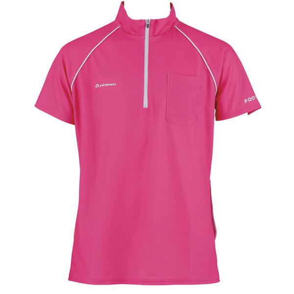 フットマーク 介護ウェア ジップアップシャツ ピンク L (取寄品)