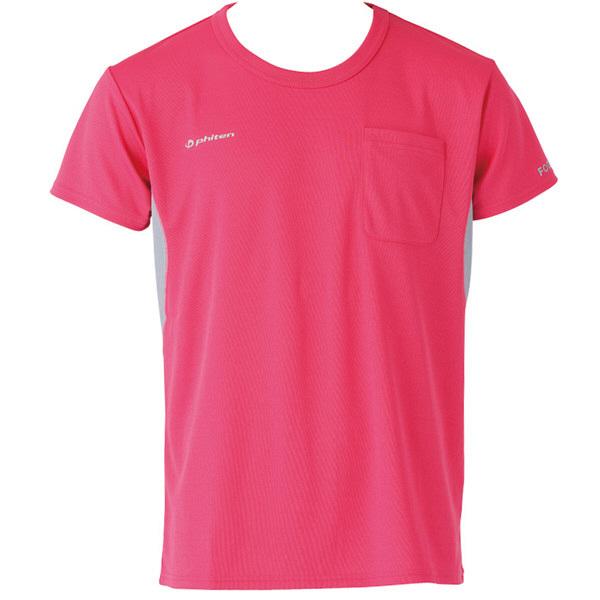 フットマーク×ファイテン 介護ウェア Tシャツ ピンク S (取寄品)