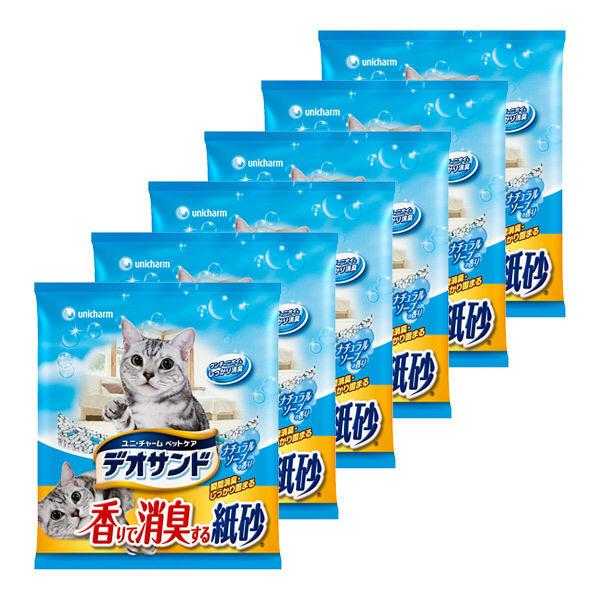 デオサンド 香り消臭する紙砂 5L 6袋