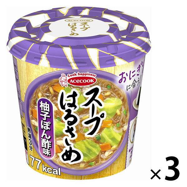 スープはるさめ 柚子ぽん酢 32g 3食
