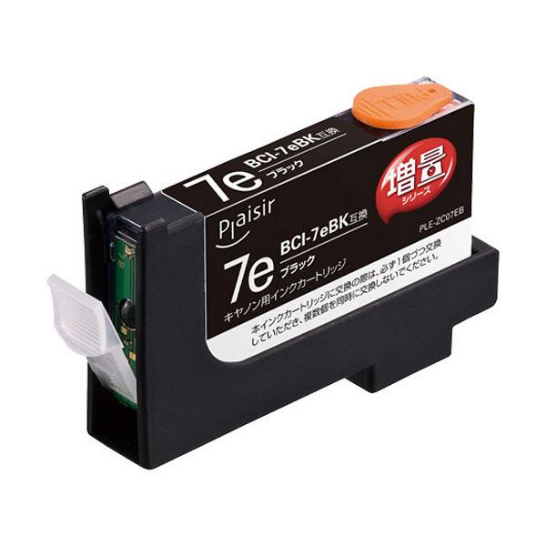 プレジール 互換インク PLE-ZCA07EB ブラック(大容量)(キヤノン BCI-7eBK互換) (取寄品)