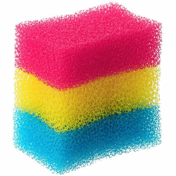 もちやすく水切れが良いスポンジ3色組