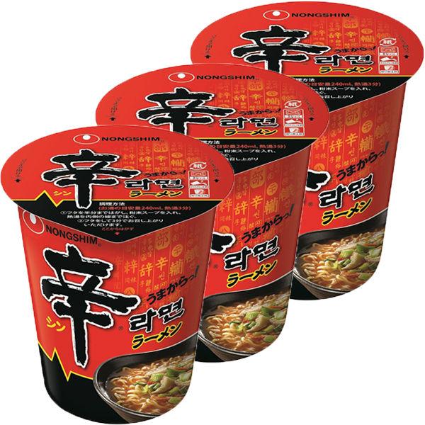 農心 辛ラーメンカップ 3食