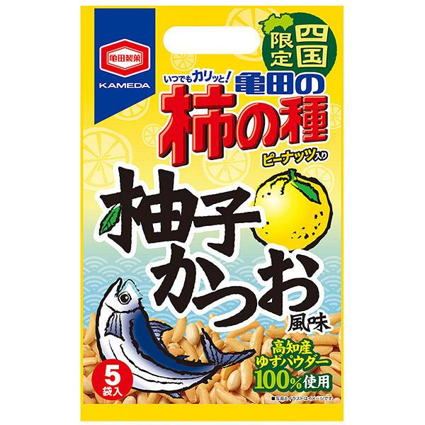 四国限定 亀田の柿の種 柚子かつお風味