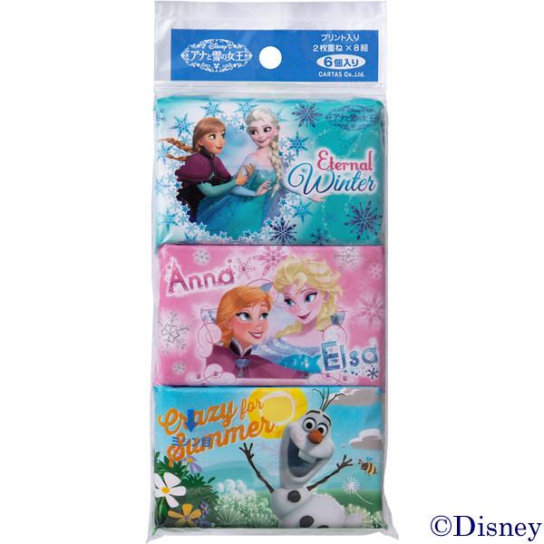 アナと雪の女王ポケットティシュ 6パック