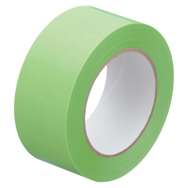 寺岡製作所「現場のチカラ」 貼ってはがせる養生テープ 1902 弱粘着 若葉色 幅50mm×50m巻