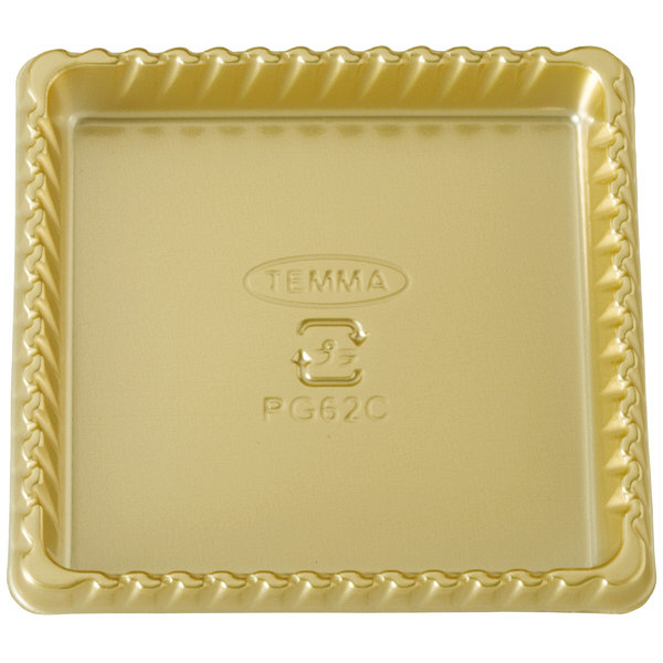 天満紙器 PG62S PETゴールドトレー角型 金 4499055 1箱(500枚入) (取寄品)