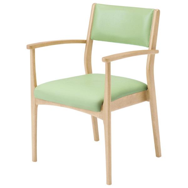 コイズミファニテック 介護施設用椅子 GMC-R1-LG-N ライトグリーン/ナチュラル