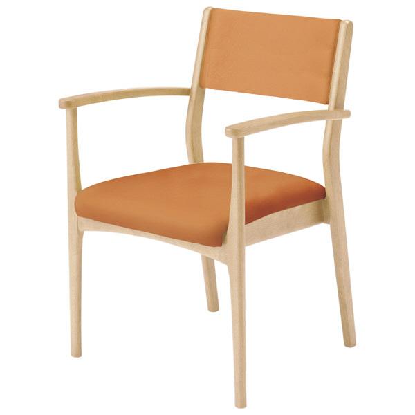 コイズミファニテック 介護施設用椅子 GMC-R1-OR-N オレンジ/ナチュラル