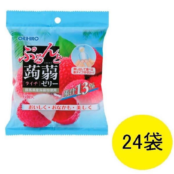 ぷるんと蒟蒻ゼリー ライチ味 24袋