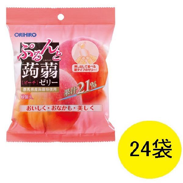 ぷるんと蒟蒻ゼリー ピーチ味 24袋