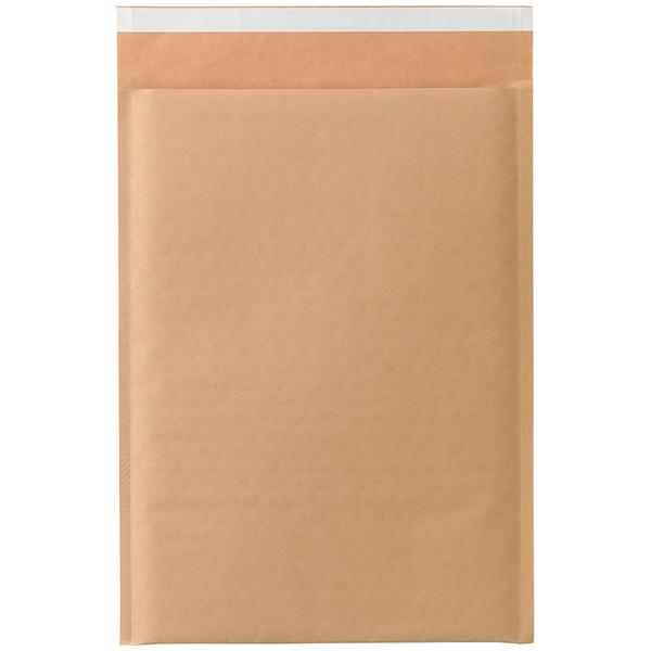 クッション封筒 A4サイズ用 茶 無地 封緘シール付 1箱(100枚入) 今村紙工