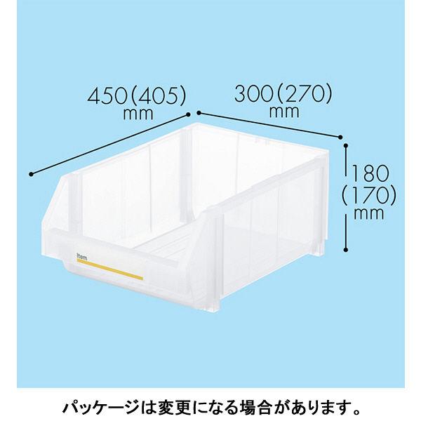 現場のチカラ 組み合わせ収納ボックス クリア LL 1セット(4個)
