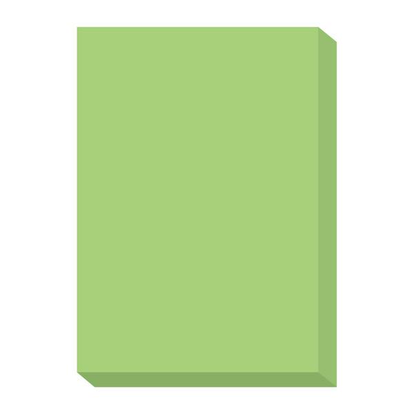 オフィス用紙カラーR100 グリーン A4サイズ OFR100G-A4 1冊(500枚入) 北越紀州製紙