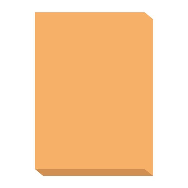 オフィス用紙カラーR100 オレンジ A4サイズ OFR100O-A4 1冊(500枚入) 北越紀州製紙