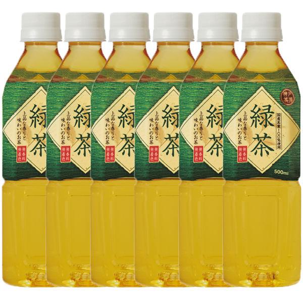 神戸茶房緑茶 500ml 6本