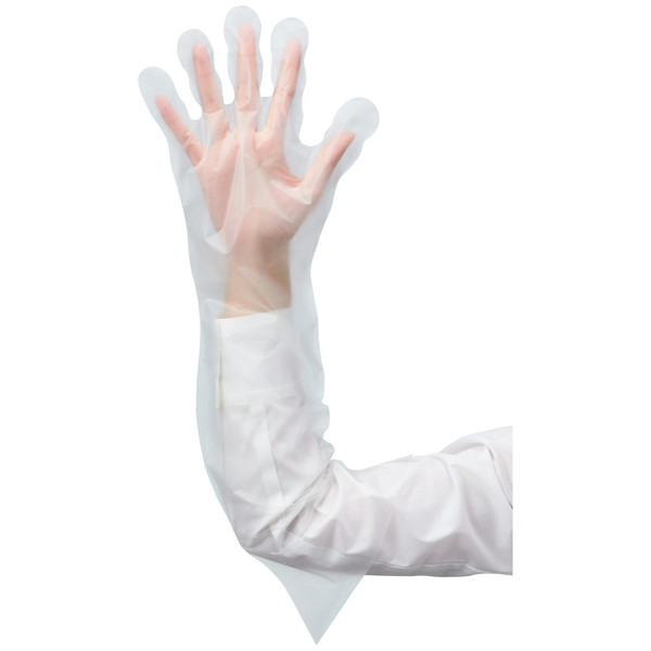 ファーストレイト CPEぴったりロング手袋 クリアー M/L FR-5546 1箱(50枚入)