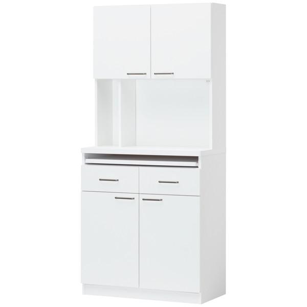 白井産業 キッチンラック ワイドハイタイプ 幅797×奥行410×高さ1780mm 1台(2梱包)