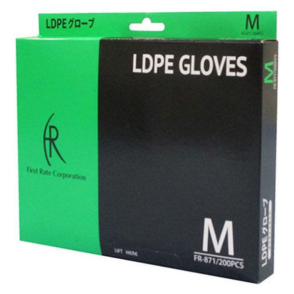 ファーストレイト LDPE ポリエチレン手袋 M FR-871 1箱(200枚入) (使い捨て手袋)