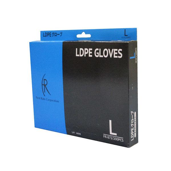 ファーストレイト LDPE ポリエチレン手袋 L FR-872 1箱(200枚入) (使い捨て手袋)