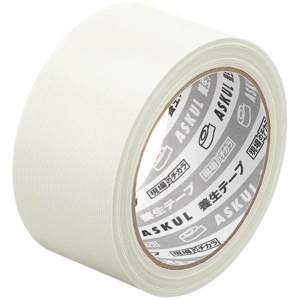 アスクル「現場のチカラ」 養生テープ 半透明 幅50mm×25m巻 1箱(30巻入)