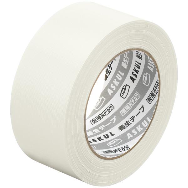 アスクル「現場のチカラ」 養生テープ 半透明 幅50mm×50m巻 1セット(150巻:30巻入×5箱)