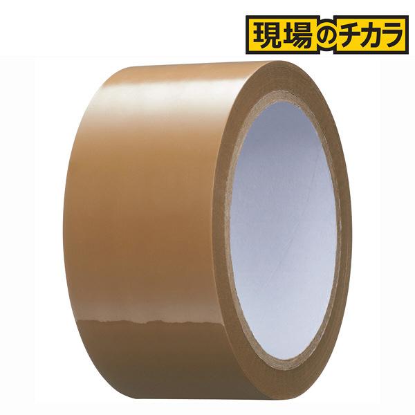 「現場のチカラ」軽梱包用OPPテープ 0.05mm厚 茶 50m巻 1セット(150巻:50巻入×3箱) アスクル