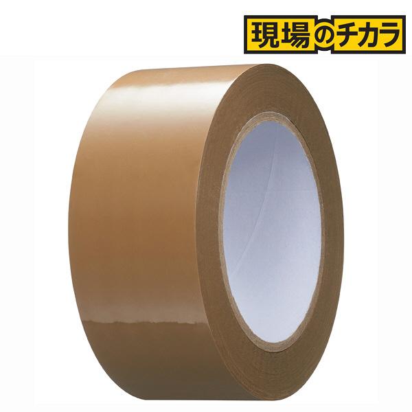 「現場のチカラ」軽梱包用OPPテープ 0.05mm厚 茶 100m巻 1セット(150巻:50巻入×3箱) アスクル