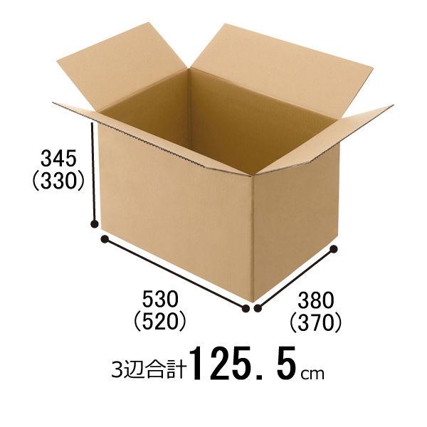 「現場のチカラ」 無地ダンボール Cライナー No.C 外寸:幅530×奥行380×高さ345mm 1梱包(20枚入)