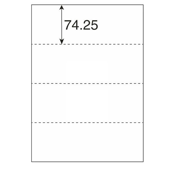 プラス マルチプリンタ用紙 ヨコ4面 A4 1冊(100枚入)
