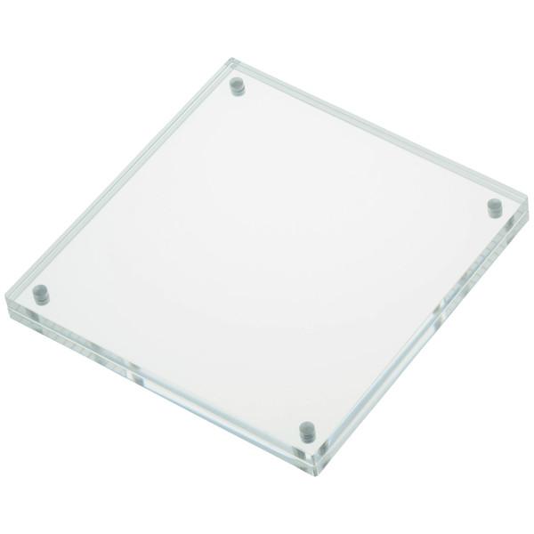 スマイル アクリル マグネットカードフレーム 正方形100×100 1セット(3個)