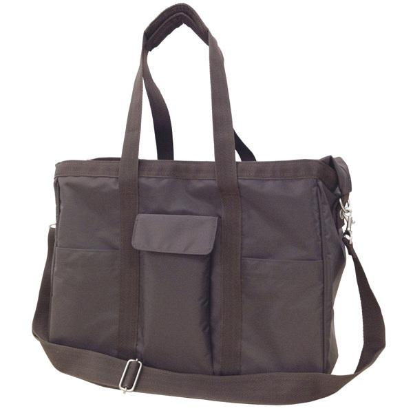 トンボ キラク 訪問バッグ(ショルダータイプ) ブラウン CR650-30 訪問介護用バッグ 1個