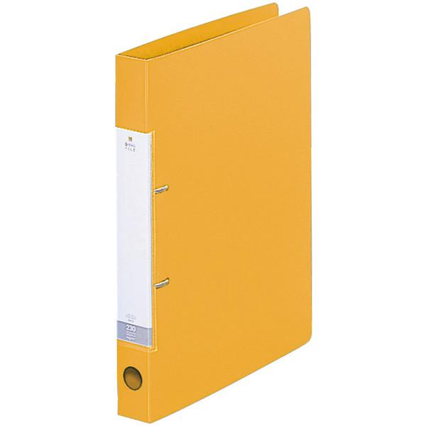 D型リングファイル A4 黄