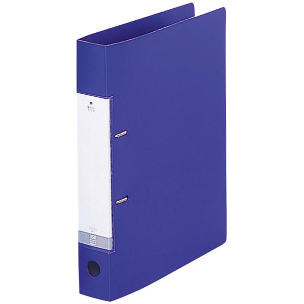 D型リングファイル A4縦背幅46mm青