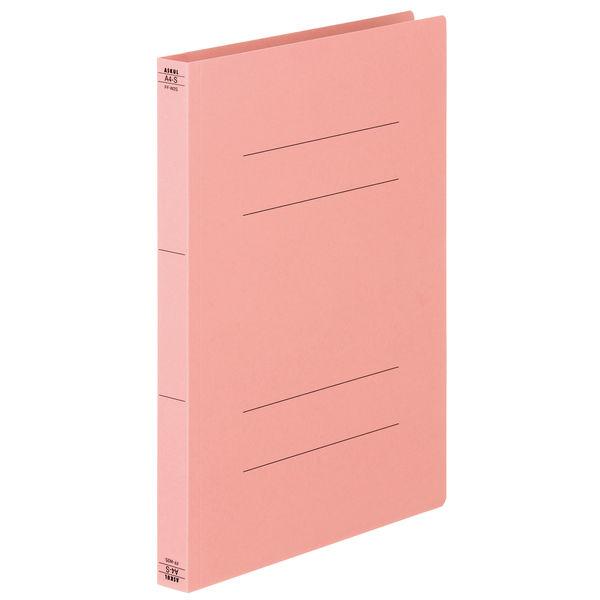 フラットファイル厚とじ 桃A4縦 30冊